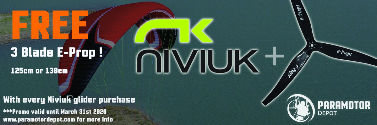 Free 3 Blade E-Prop with any Niviuk glider purchase !